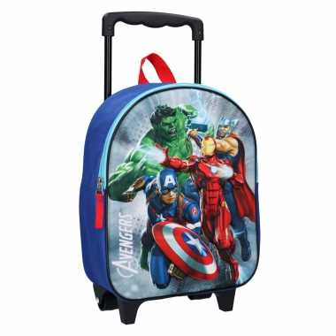 Avengers handbagage reiskoffer/trolley 31 cm voor kinderen