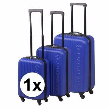 Blauwe dunlop reiskoffer 56 cm