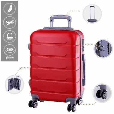 Cabine trolley koffer met zwenkwielen 33 liter rood