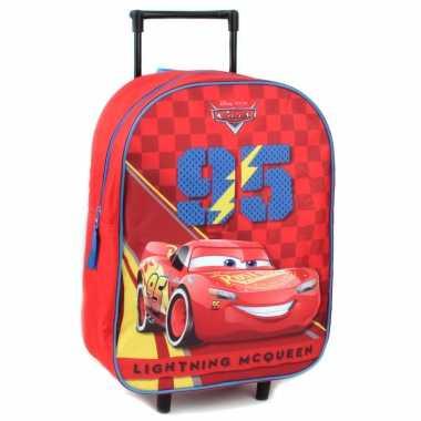 Cars handbagage reiskoffer/trolley 39 cm voor kinderen