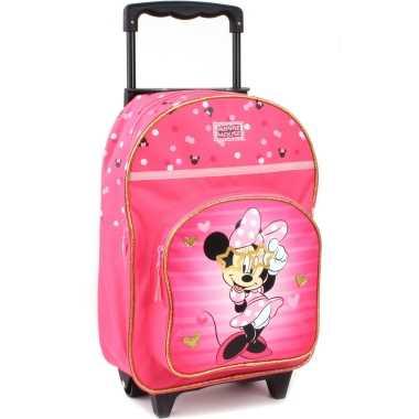 Disney minnie mouse trolley/reiskoffer rugtas voor kinderen