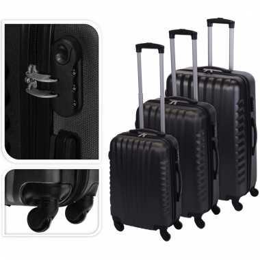 Grijze reiskoffer 65 cm