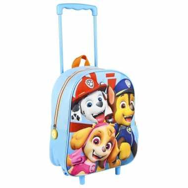 Paw patrol trolley/reiskoffer rugtas voor kinderen