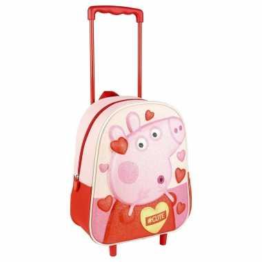 Peppa pig/big trolley/reiskoffer rugtas voor kinderen
