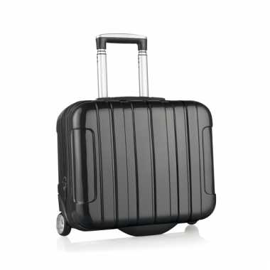 Zwarte reis trolley koffer