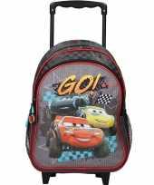 Disney cars zwarte trolley reiskoffer rugtas voor kinderen